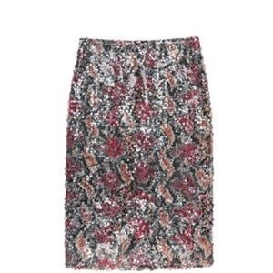Nicole Miller Carter Sequin Pencil Skirt